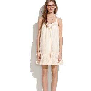 Madewell daisy stitch ivory sundress sleeveless